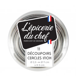 11 cercles  inox taille assorties