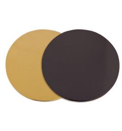 100 supports à gâteaux dorés noirs Ø24 cm