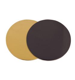 100 supports à gâteaux dorés noirs Ø22 cm