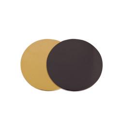 100 supports à gâteaux dorés noirs Ø14 cm