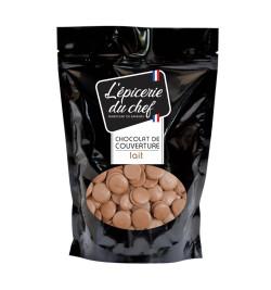 Palets de chocolat lait 500g
