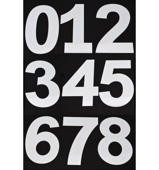 Gabarits chiffres de 0 à 9 en plastique rigide