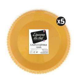 EDC9457 - 5 plats dentelle rond doré